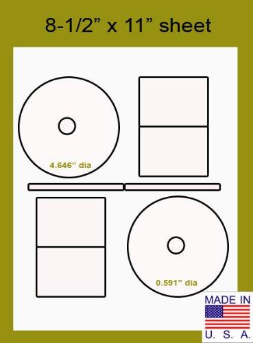 Stomper Pro Full Face Compatible CD DVD Matte White Label...