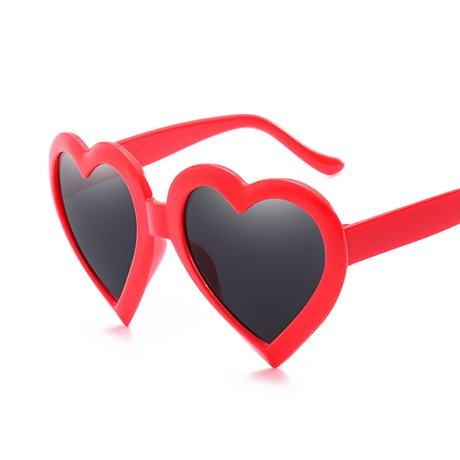 Rosa para sol Heart Vintage Love Rosa Gift GGSSYY Red Mujeres de Gafas Eye Shape Heart mujeres de sol Red Gafas Negro TvqW0a4