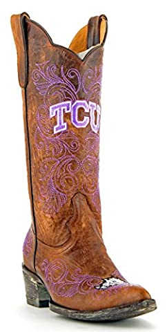 NCAA TCU Horned Frogs Women's 13-Inch Gameday Boots, Brass, 8 B (M) US (University Of Texas Boots)