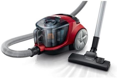 Philips PowerPro Compact - Aspiradora (1800W, 350W, Cilindro, Sin bolsa, Metal, Micro, HEPA): Amazon.es: Hogar