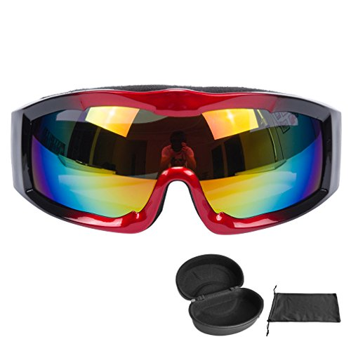 Snow Goggles Adult Anti-Fog Wide Angle Multicolor UV400 Snowboarding Ski Goggle for Men and Women-1PCS Ski Goggle& 1 PCS Ski Goggle Case - Sunglasses Smith On Sale