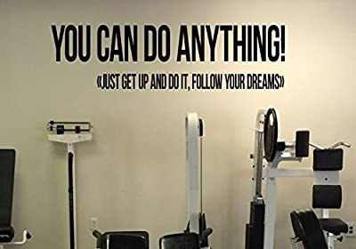 You Can Do Anything Motivation Quote Vinyl Decal Fitness Gym Wall Sticker Inspirational Daily Quote Workout Interior 19(fgm)