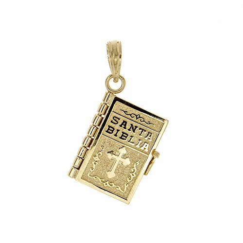 14k-yellow-gold-religious-charm-pendant-3d-santa-biblia-book-spanish-bible-moveable-pages