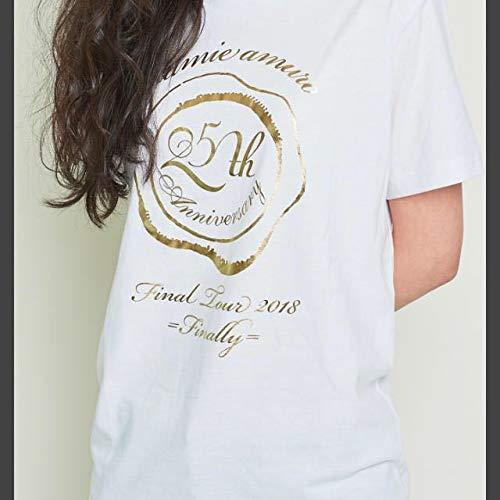 安室奈美恵 namie amuro Final Tour 2018 ~Finally~ 25周年 ライブ グッズ ファンクラブ 限定 Tシャツ 白 ホワイト M