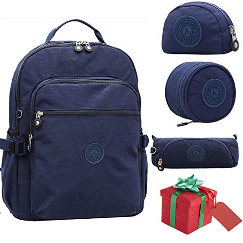Blue Boy Waterproof Backpack Pieces Girl Nylon School New 4 Set of Original P6qwqHR
