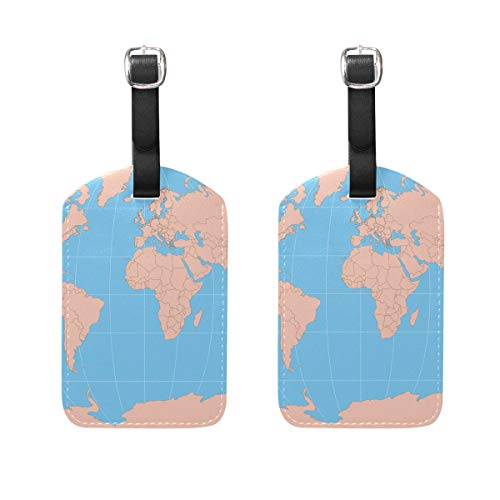 Luggage Tags WORLD MAPS PRINTABLE Mens Tag Holder Kids Bag Labels Traveling Accessories
