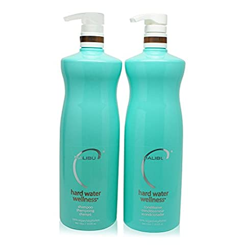 Malibu C: Natural Hard Water Defense Shampoo and Conditioner Combo, 33.8 oz each - Optimal Seven Drawer