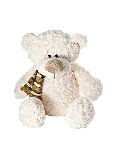 Mousehouse Gifts Super Soft Cream Stuffed Animal Teddy Bear Plush Toy Teddies with Scarf 11 inch