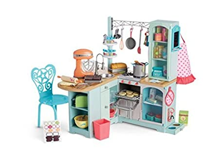 Amazon Com American Girl Gourmet Kitchen Set Toys Games