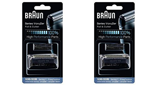 Price comparison product image BRAUN 10B/20B 1000/2000 Series FreeControl Series 1 Shaver Foil and Cutter Head Replacement Pack, 2 Count