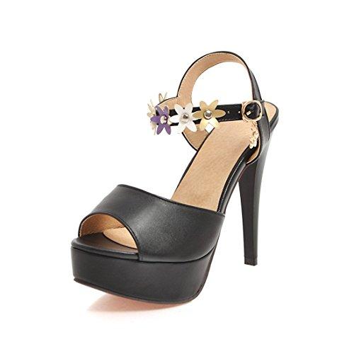 sandali sandali e 32 signora signore sandali black Eqw4z8