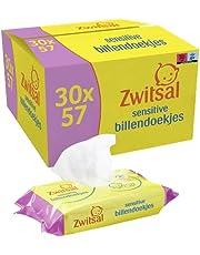 Zwitsal Baby Billendoekjes Sensitive (30 x 57 wipes), voor de gevoelige huid, 1710 doekjes - Voordeelverpakking