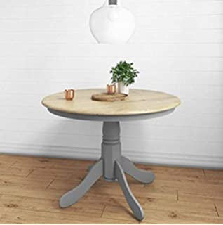 Amazing Shabby Chic White Wooden Round Dining Table French Country Beutiful Home Inspiration Xortanetmahrainfo