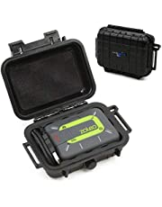 CASEMATIX Protective Travel Case Compatible with ZOLEO Satellite Communicator - Crushproof & Waterproof Case for Satellite Phone Accessory, Charging Cable and Carabiner - Case Only