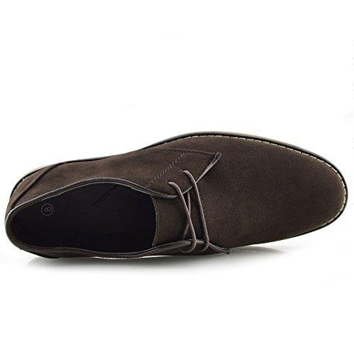 Kick Calzado para hombre Smart Casual Azul Marino Smart formales Encaje Hasta Zapatos para hombre. marrón