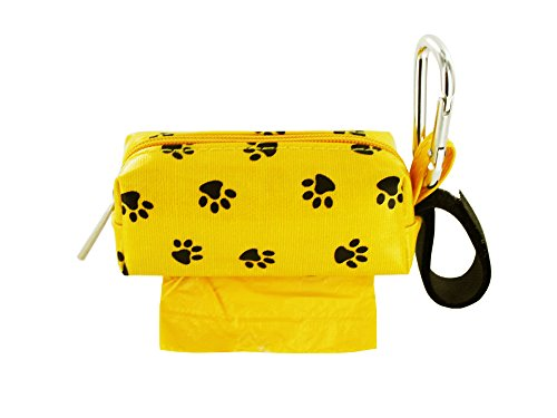 Image of Doggie Walk Bags DB1-YLLSQP Square Duffel Paw Print Bag, Yellow