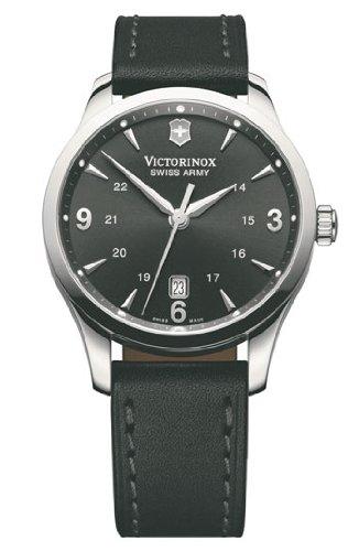 Victorinox Alliance Black Dial Leather Strap Mens Watch 241474XG