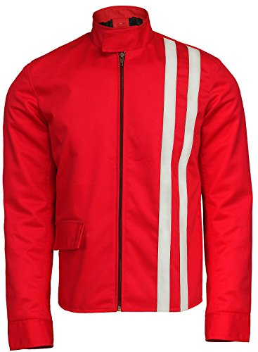 Elvis Presley Speedway Vintage Classic Stripes Red Cotton Jacket]()