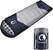 CANWAY Sleeping Bag with Compression Sack, Lightweight and Waterproof for Warm & Cold Weather, Comfort for