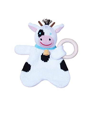Zubels Organic Cow Rattle with Teething Ring by Zubels   B0069XE84G