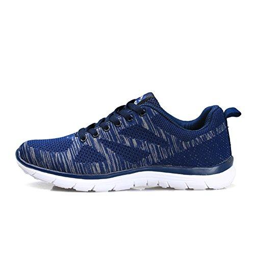 Uomo Ginnastica populalar Allacciare Cushion Scarpe EU Sneakers 43 Sportive Donna da 36 Blu Air Atletico Running dBYxYv