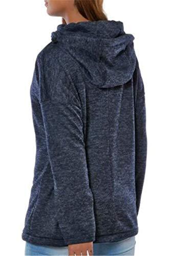Puro Puro Giovane Sweatshirts Lunghe Camicetta Camicetta Autunno Casual Donne Pullover Blu Hoodies A Cappuccio Eleganti Felpe Baggy Sportivo con Maniche Primaverile Colore Moda Costume Camicia 86xnz0x