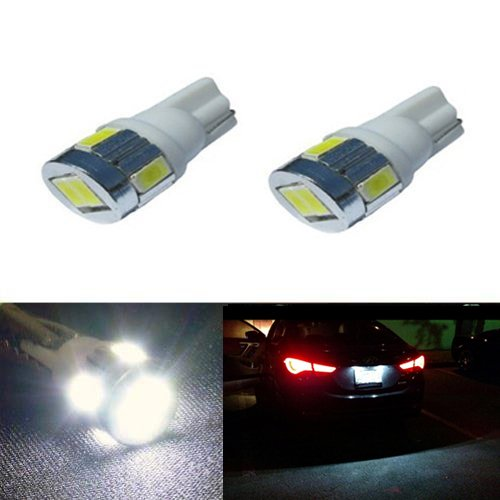 JDM ASTAR Extremely Bright 5730 SMD 194 168 175 2825 W5W T10 LED Bulbs,Xenon White (Only used for interior or license plate light)