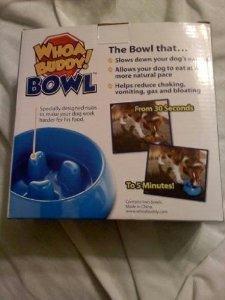 Whoa Buddy! Bowl with Bonus Water Bowl – – Size M, My Pet Supplies
