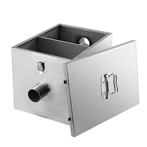 Restaurant Grease - BEAMNOVA 9lbs Commercial Grease Trap 4 Gallons Per Minute Stainless Steel Interceptor for Restaurant Kitchen, 1 Year Warranty