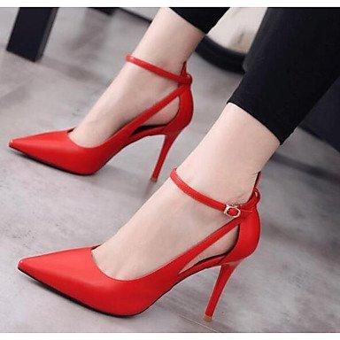 Rojo Mujer ggx Brown Plano Confort Nobuck Cuero Lvyuan Sandalias Casual Marrón Vestido Primavera wvqd57f7