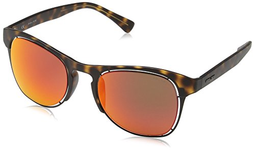 Havana Lens de Police Dark Brown 1 Gafas Matt Offside sol S1954 Mirror Red Frame Redondas x6vSxRw
