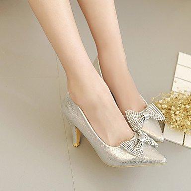 PU Slingback 4in us7 Silver 2 silver Gold ggx 5 Slingback eu38 Heels LvYuan 5 Women's Casual Spring 3 cn38 uk5 2in qfxZwOA0I