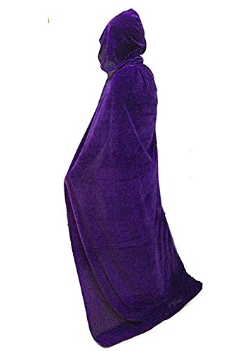 Unisex Full Length Velvet Hooded Cape Halloween Costume -