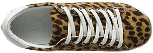 Zj5 Baskets Maruti black panther Beige Femme Nena Hairon Brown Leather q6g6wztfT
