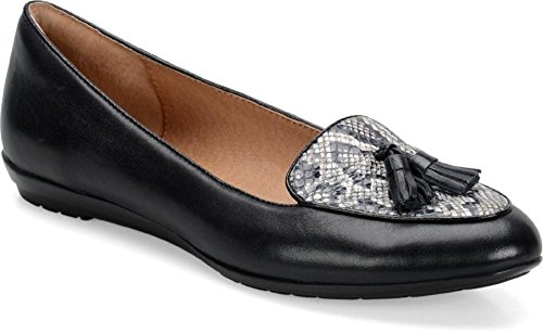 White Loafers Sofft Black Leder Frauen Bryce awqvXp