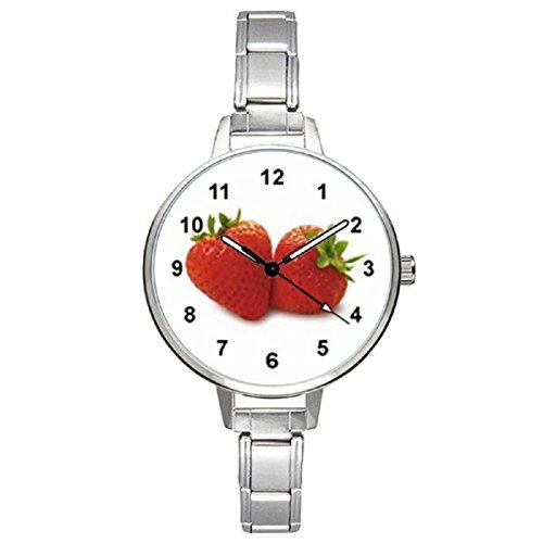 (Timest - Strawberries - Womens Stainless Steel Italian Charms Bracelet Watch BM0137)
