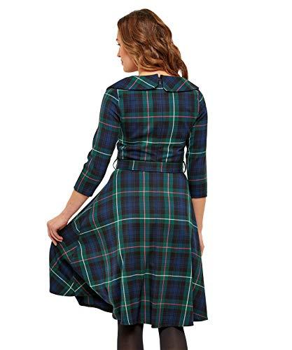 Joe mit Browns Vintage Grün Kleid Damen Schottenkaro va816wvq