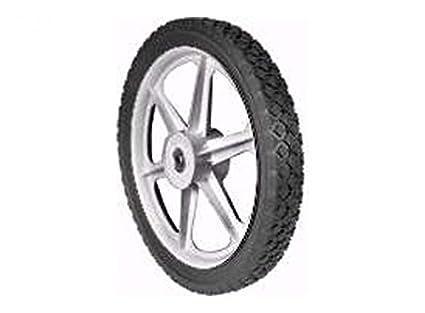 2-3//8-Inch Centered Hub Diamond Tread 1//2-Inch Ball Bearing Martin Wheel PLSP14D175/14/by 1.75-Inch Plastic Spoke Semi Pneumatic Wheel for Lawn Mower