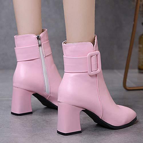 3bc5681206a Rose Kaiki Hauts Bottes Pour nbsp bottes Martin 43 Femmes Talons 35 Et  Boots Bout Sexy ...