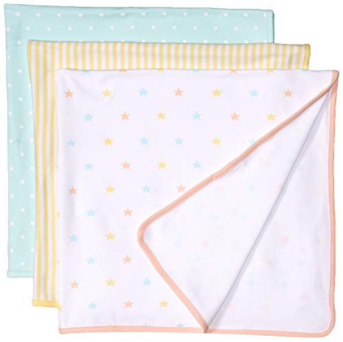 Amazon Essentials Baby 3-Pack Swaddle Blanket, Uni Star, One Size