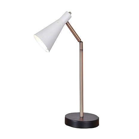 Amazon.com: Lámpara de mesa retro de hierro forjado de metal ...
