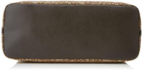 Tous Bowling Mediano Kaos Mini de Lona - Borse Donna, Marrón (Brown), 13x20x35 cm (W x H L)