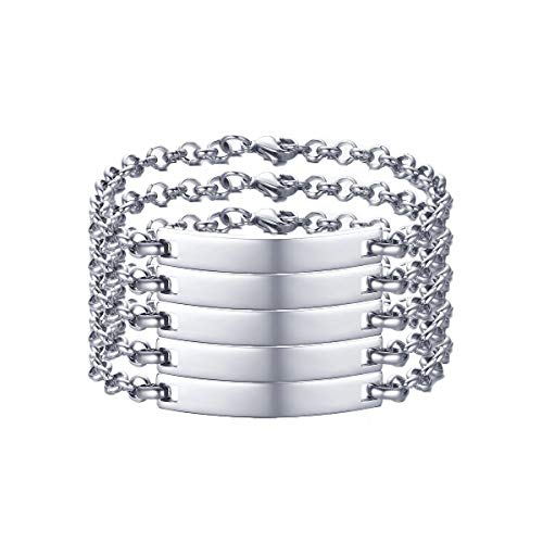 VNOX Customize 12MM/6.5MM Stainless Steel Link Chain Bracelet Set for Men Women,Gift for Best Friend Family