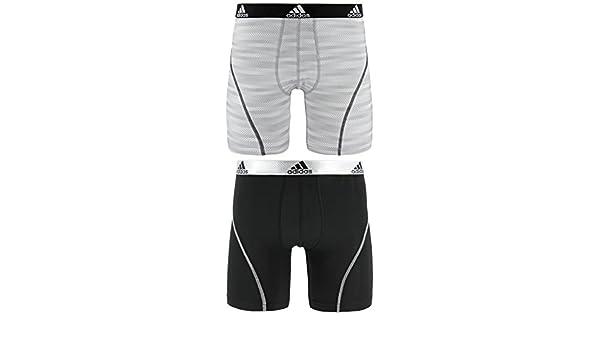 Adidas - Camiseta de Deporte Performance Climalite Boxer Breve Ropa Interior (2 Unidades), Hombre, White Ratio Black: Amazon.es: Deportes y aire libre