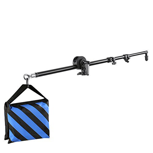 Neewer Pro(Pro Version of Neewer Product) Studio Photo Bracket Grip Holder 24''-71''/60-180cm Swivel Head Reflector Arm Support Black, Holding Cross Arm Boom Stand Photo Graphic Equipment by Neewer
