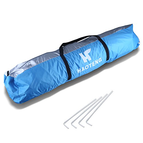 Beach Tent, Compact Outdoor Portable Beach Sun Shade Summer Shelter Cabana 2 Person Camping Fishing Hiking Picnicing Anti UV Canopy Instant Easy Up with Stakes and Carrying Bag