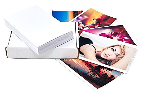 Matte photo paper 100 sheets for inkjet printers 4x6 inches, 9.5mil, 230gsm with backprint