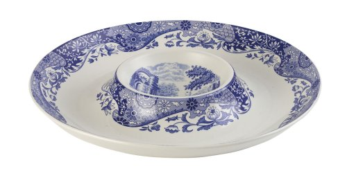 Spode Blue Italian Chip n Dip 14- 1/2 inches