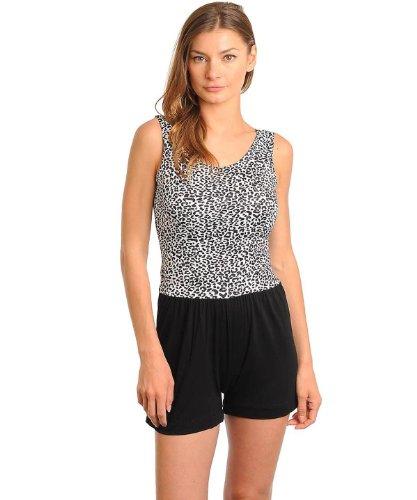 G2 Fashion Square Women's Leopard Print Romper