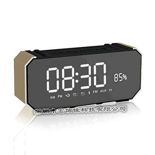xingganglengyin Bluetooth Speaker Card Alarm Clock with Display Bluetooth Desktop Audio subwoofer Explosion by xingganglengyin (Image #3)